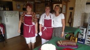 Die Helferinnen (v.l. Doris Eigner, Manuela Geiß und Ute Weber)