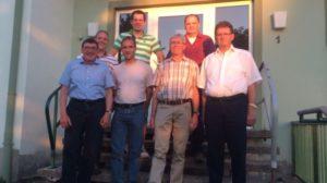 Neuer Gemeinderat 2014 - 2019 (v.l. Adolf Schuch, Michael Schunck, Sebastian Grauer, marc Bollenbacher, Rudi Weber, Stefan Schuch Ralph Dietz
