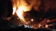Eine verletzte Person bei Hausbrand
