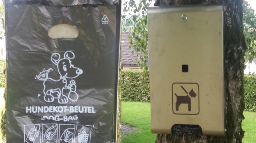 Hundekotbeutel gegen Tretminen